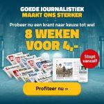 8 weken gratis krant