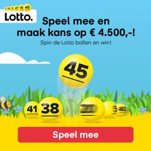 Win € 4500 met Lotto
