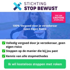 100% Gratis stoppen met roken