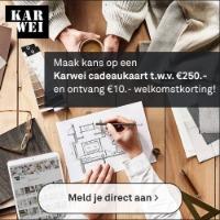 Schrijf je in en ontvang een gratis Karwei cadeaubon