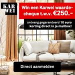 Ontvang een gratis Karwei waardecheque