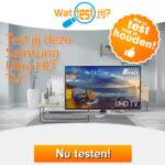 Test en houdt een gratis Samsung Ultra HD TV