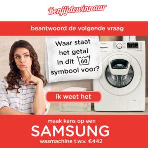 Maak kans op een gratis wasmachine