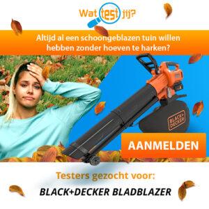 Test en houd een gratis Black & Decker bladblazer