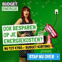 Ontvang geen gratis cadeaus maar hoogste korting Budget Energie