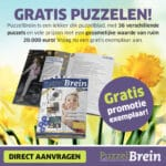 Ontvang een gratis puzzelboek van Puzzelbrein