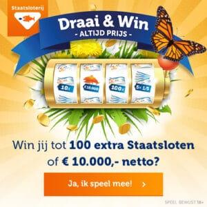 Draai en win 100 gratis Staatloten