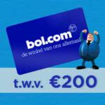 Vul in en win €200 gratis shoppen bij Bol