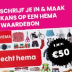 kies en win een gratis HEMA cadeaukaart