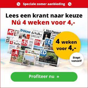 4 weken je favoriete krant voor maar 4 euro